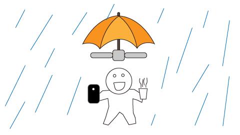 ドローン傘