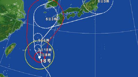 台風18号2016