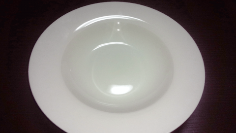 くぼみパスタ皿 リム皿